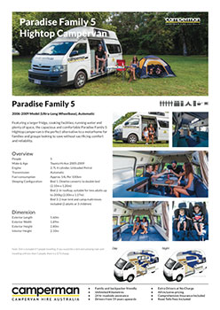 Paradise Family 5 Fact Sheet