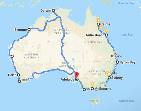 drive around australia itinerary