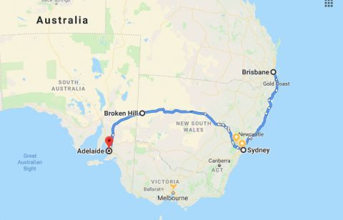 Adelaide to Sydney to Brisbane Drive