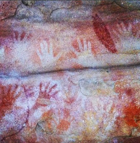 Red hands cave, glenbrook, Blue Mountains, NSW, Australia