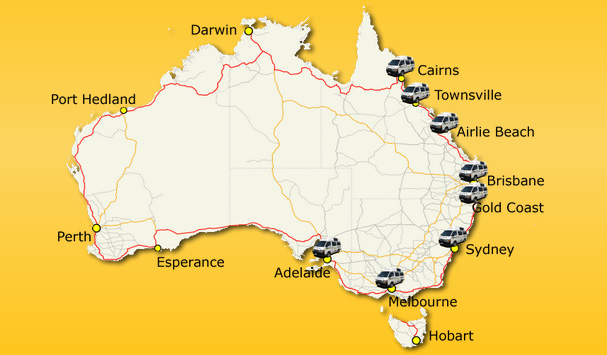 campervan hire location in australia