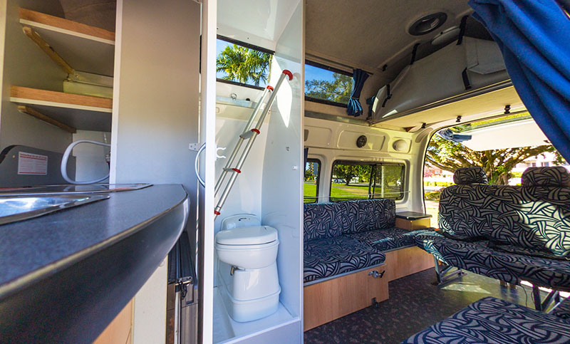 Campervan Hire Australia 5 Person Motorhome Bathroom
