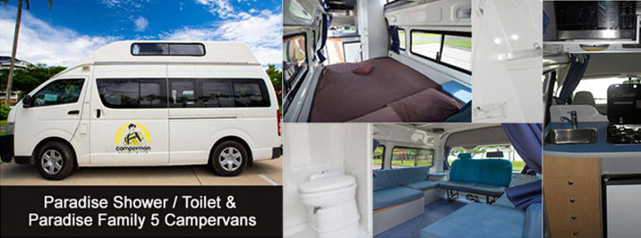 Paradise Shower & Toilet Hightop Campervan